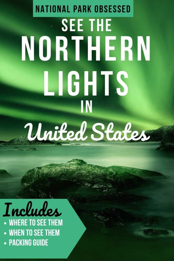 Would you like to see the Aurora Borealis in the United States?  Check out the best National Parks to see the Northern Lights in the USA.  USA Northern Lights / Aurora Borealis USA / National Parks Northern Lights / National Parks Aurora Borealis / Aurora Borealis in the US / Where to see the northern lights in the USA