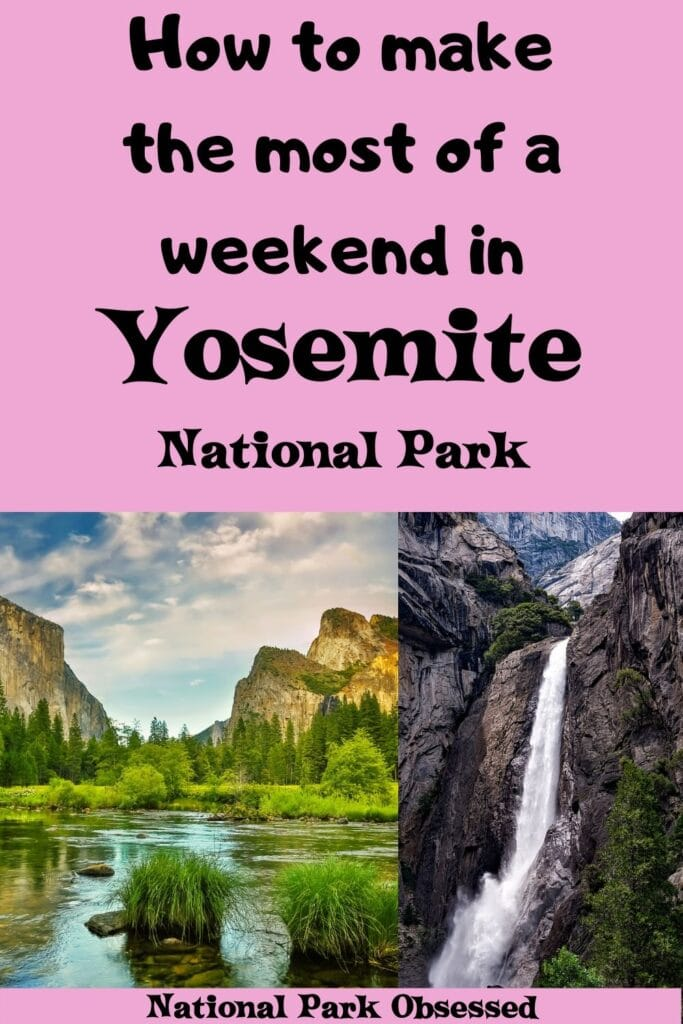 Looking to spend two days in Yosemite National Park?  Here is everything you need to know to make the most of your weekend in Yosemite National Park.