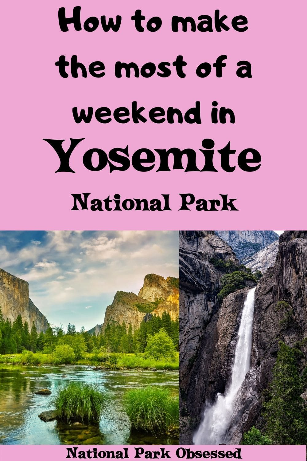 Looking to spend two days in Yosemite National Park? Here is everything you need to know to make the most of your weekend in Yosemite National Park. #yosemite #yosemitenps #nationalparks #nationalpark #yosemitevalley #califorina Yosemite national park vacation. Yosemite national park | Yosemite national park vacation | Yosemite national park photography | Yosemite national park itinerary | Yosemite hikes | Yosemite itinerary
