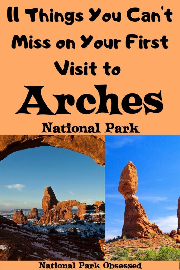 Planning your first visit to Arches? Here are 11 things you can't miss on your first visit to Arches National Park. Find out what arches, hikes, and petroglyph to see. Arches national park vacation. Arches national park | Arches national park vacation | Arches national park photography | Arches national park itinerary | Arches hikes | Arches itinerary