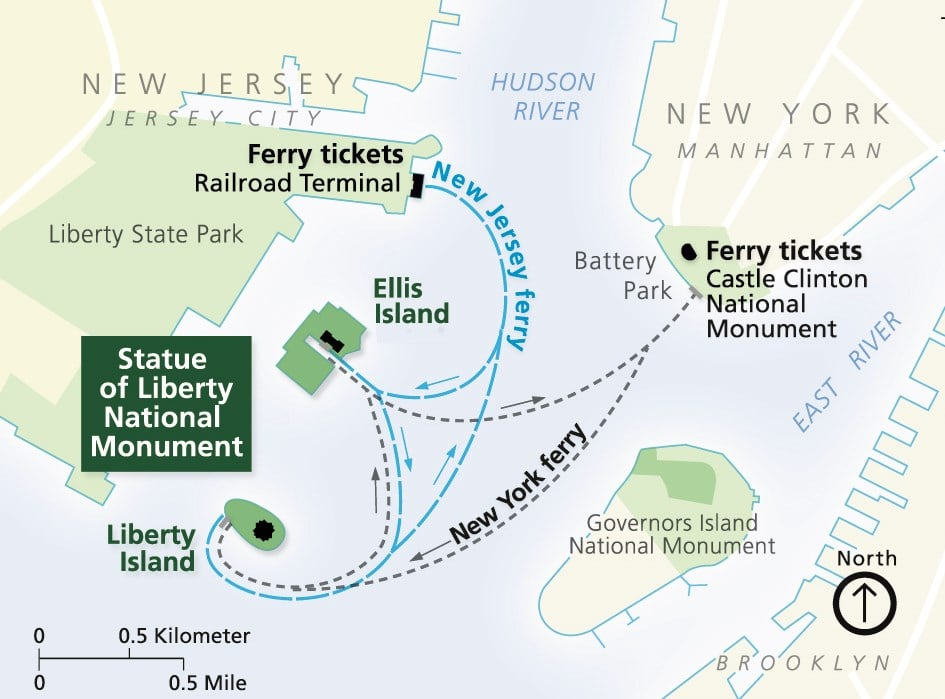 Ferry routes