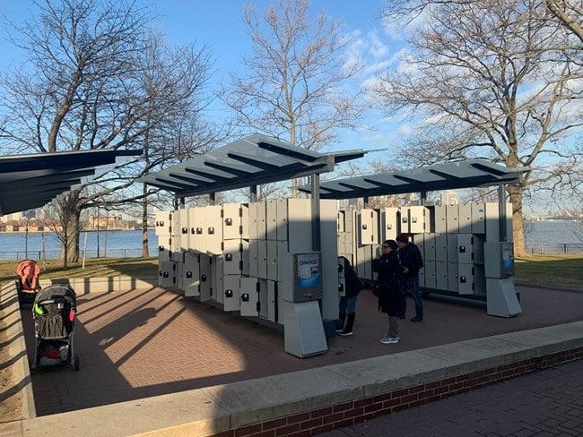 Lockers at Statue of Liberty