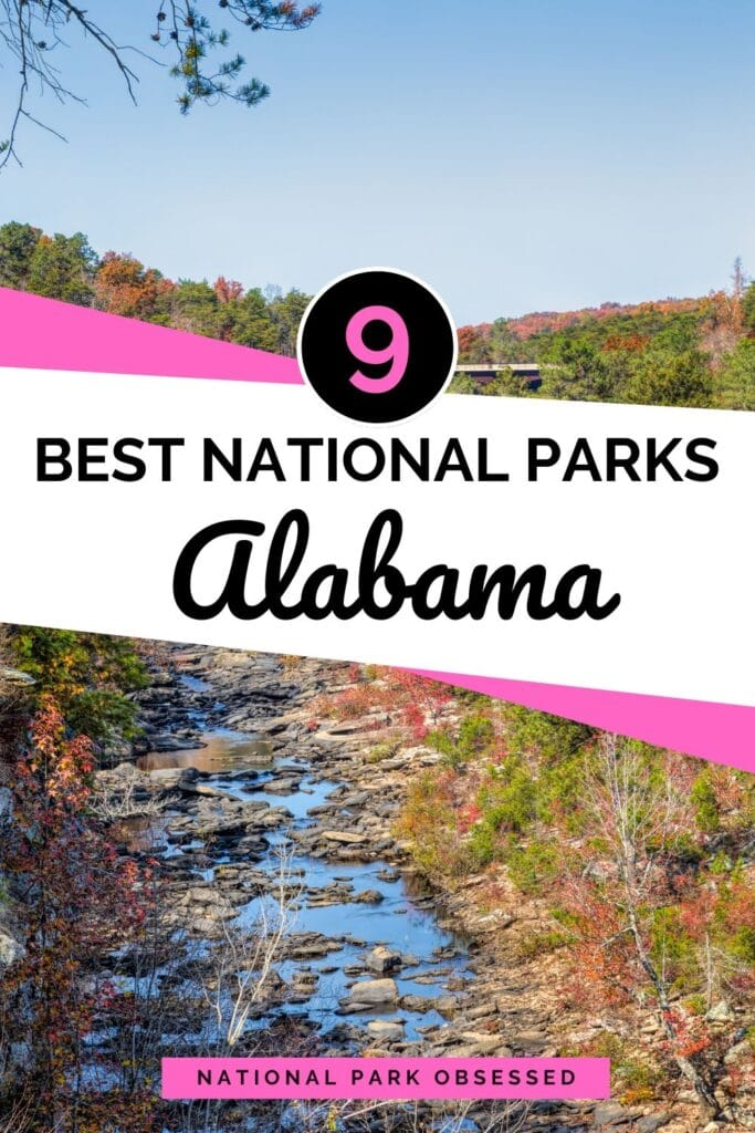 Click HERE to learn more about the National Parks of Alabama.  These unique 9 sites range from the Civil Rights to Native American History to Nature Sites.    Alabama National Parks / National Parks in Alabama / Birmingham Civil Rights / Freedom Riders / Horseshoe Bend / Little River Canyon / Natchez Trace / Russell Cave / Tuskegee Airmen / Tuskegee Institute