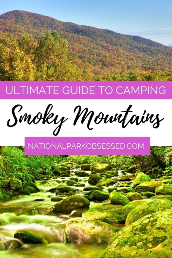 Are you considering camping in Great Smoky Mountains National Park? Click HERE for the ultimate guide Smokies Campgrounds and get ready for your camping trip.   Great Smoky Mountains Camping / Camping at Great Smoky Mountains/ National Park Camping / Smoky Camping / Smoky Mountains Campground / Tennessee Camping / North Carolina Camping / Great Smoky Mountains National Park Camping / Smokies Camping / Gatlinburg Camping / Townsend Camping / Ashville Camping
