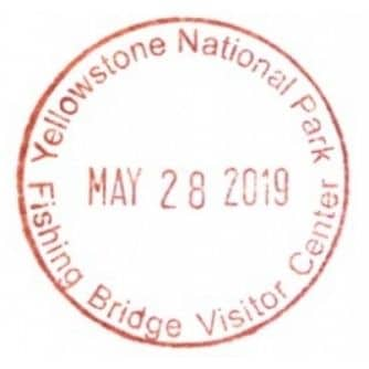 National Park Passport Stamp - Fishing Bridge Visitor Cetner