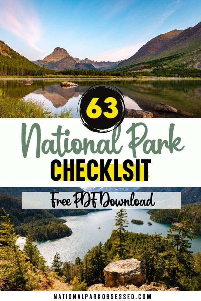 Are you on a quest to visit all the United States National Parks?  Here is a free National Park Checklist download to help you track your progress.  checklist of us national parks checklist 62 national parks a list of the national parks how many national parks are there in united stateslist of national parks by date national parks list pdf national park listing national parks list of national parks in usa national parks in USA list national parks list usa list of national parks in the us