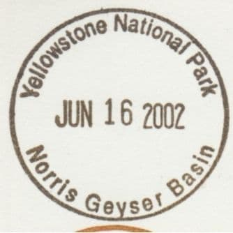 National Park Passport Stamp - Norris Geyser Basin