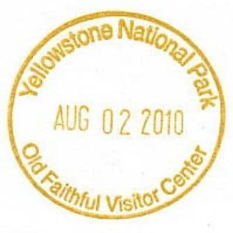 National Park Passport Stamp - Old Faithful Visitor Center