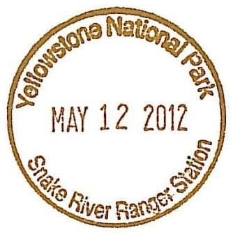 National Park Passport Stamp - Snake River Ranger Station