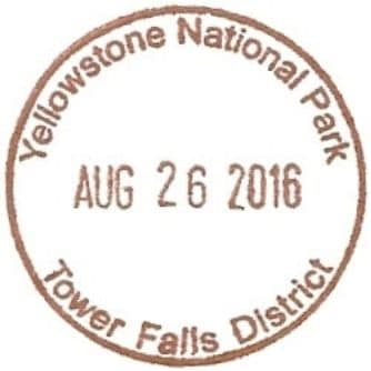 National Park Passport Stamp - Tower Falls District
