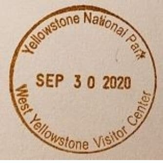 National Park Passport Stamp - West Yellowstone Visitor Center