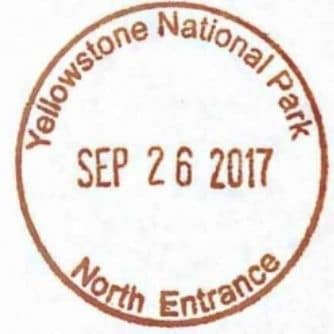 National Park Passport Stamp - North Entrance