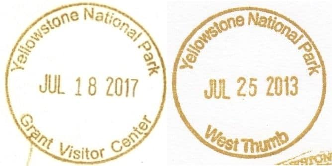 National Park Passport Stamp - Grant Visitor Center and West Thumb