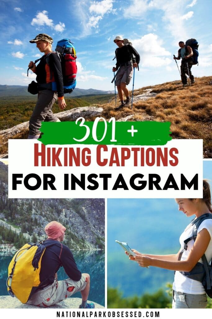 Looking for motivational quotes about hiking?  Here are the 301+ best hiking quotes that would be perfect hiking captions for Instagram.  Funny Hiking Quotes / Hiking Quotes for Instagram / Mountain Hiking Quotes / Climbing Quotes / Camping Quotes / Hiking with Friends Quotes / Hiking Quotes for Couples / Hiking Adventure Quotes