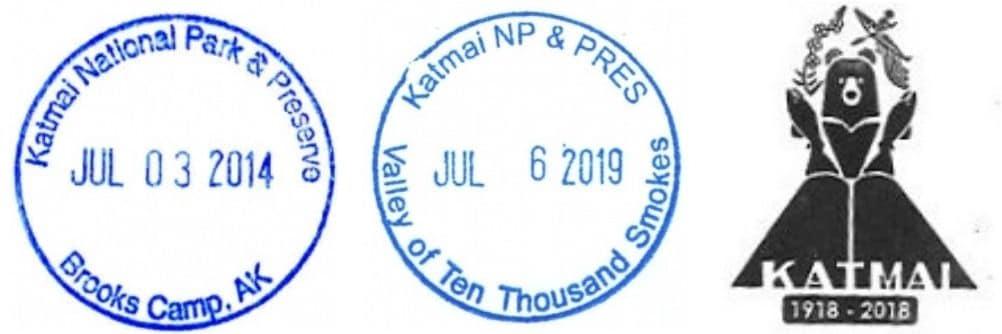 Katmai National Park Brooks Camp Visitor Center Passport Stamps