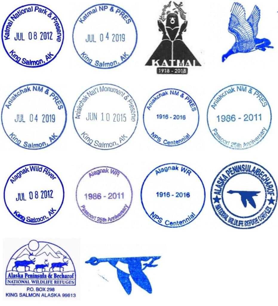 King Salmon Interagency Visitor Center Passport Stamps