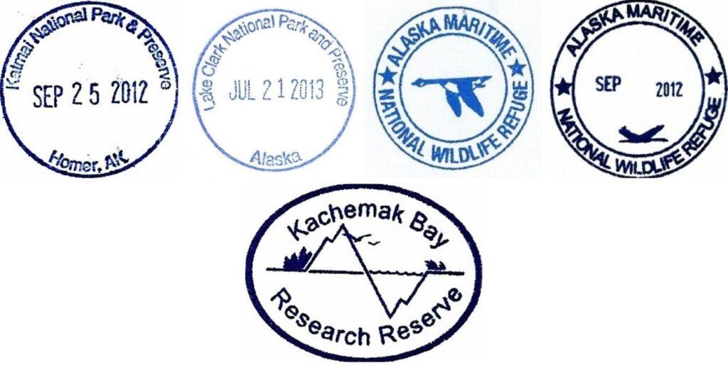 Alaska Islands and Oceans Visitor Center Passport Stamps