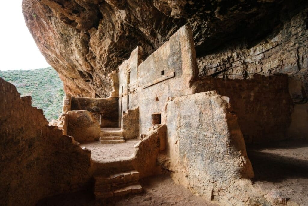 The remains of an Ancestral Puebloan cliff dwelling