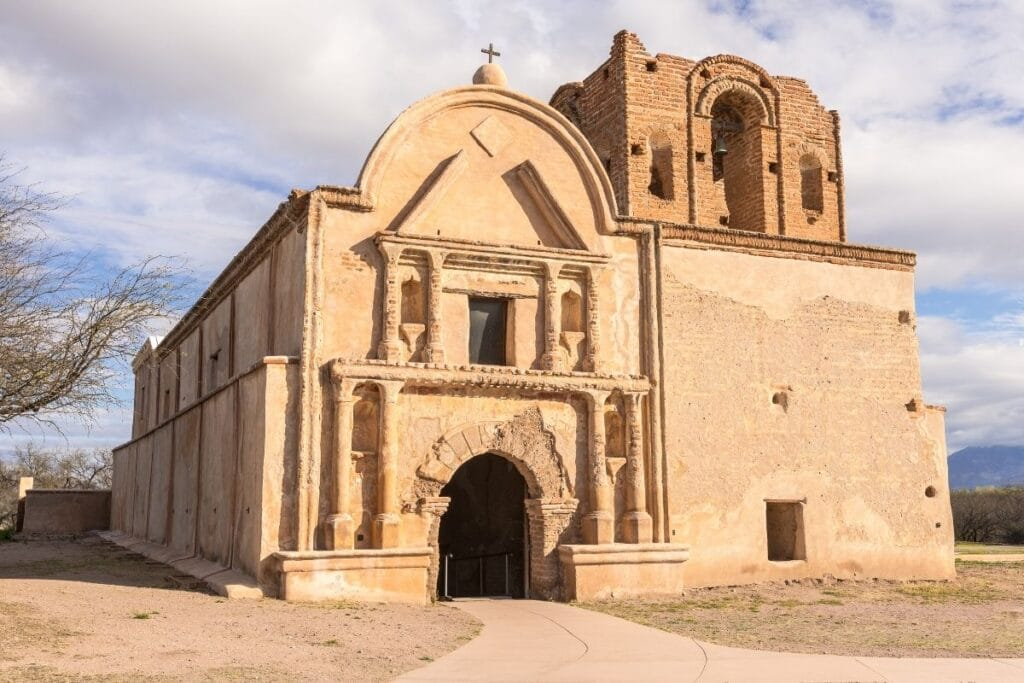 The Spanish mission at Tumacacori