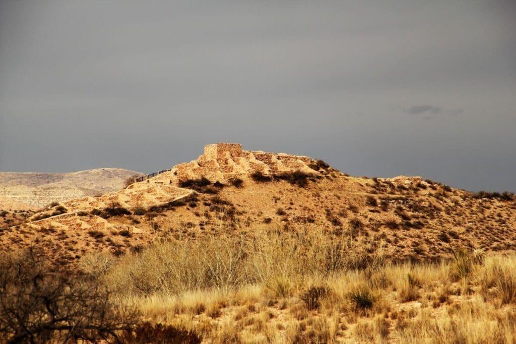 Tuzigoot standing on its hill top.
