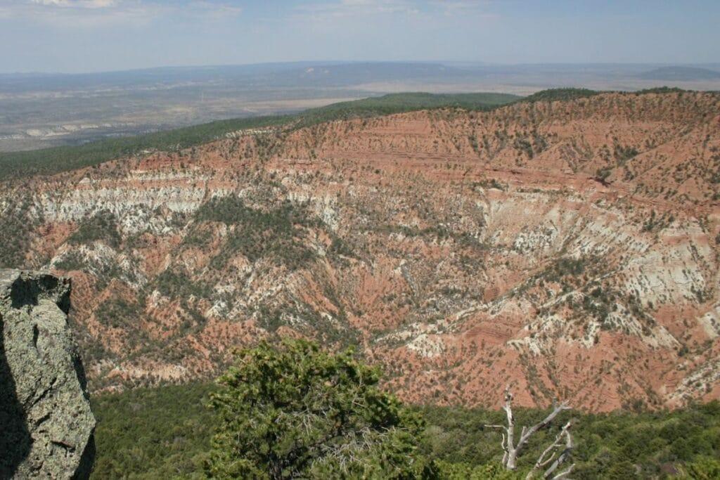 A colorful canyon