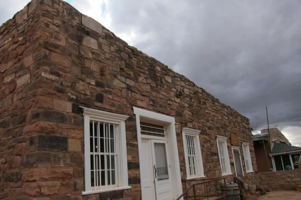 The brick outside of Hubbell Trading Post
