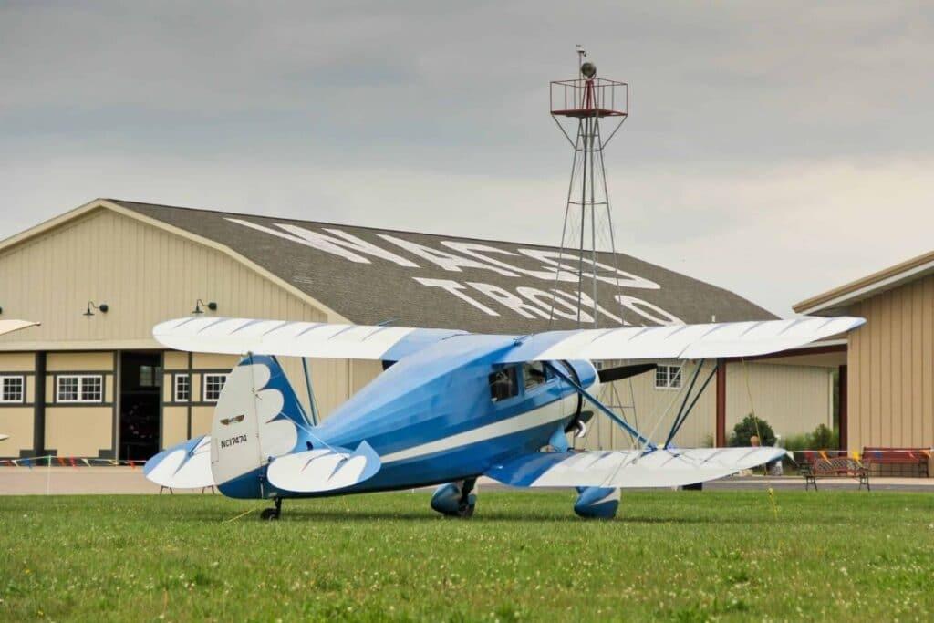 A Blue Airplane at Waco
