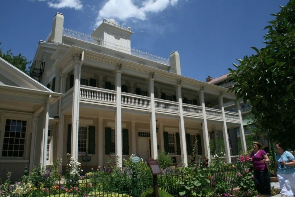The two-story home of Brigham Young