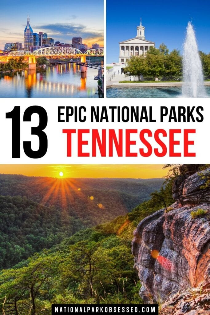 The national parks in Tennessee have a vibrant natural beauty along with a rich and important history. These 13 Tennessee National Parks should be on your bucket list.   list of national parks in Tennessee / nashville national park / national parks in tn / tn national parks / national park Tennessee /