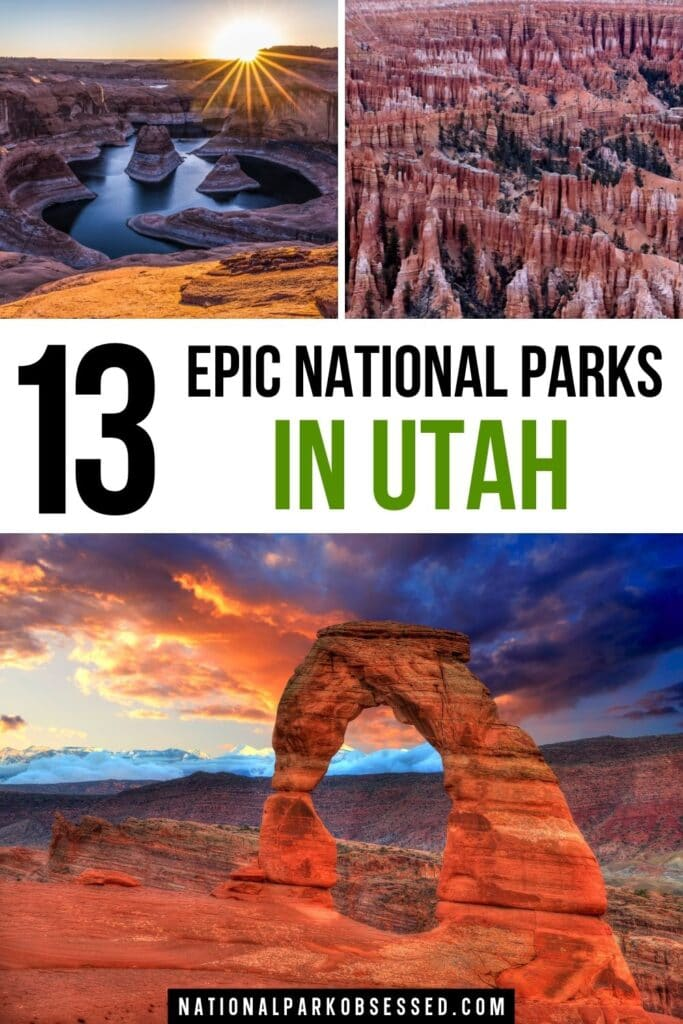 Planning to explore the Mighty Five? There are more national parks in Utah than just these 5 magnificent parks.  Let's explore the 13 Utah National Parks.  list of utah national parks / list of utah national parks / how many national parks in utah / how many national parks are in utah / utahs national parks / utah's national parks / best national parks in utah / southern utah national parks / national parks southern utah / national parks near salt lake city