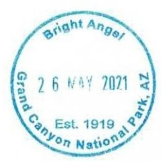 Grand Canyon National Park Passport Stamps - Bright Angel Lodge Gift Shop