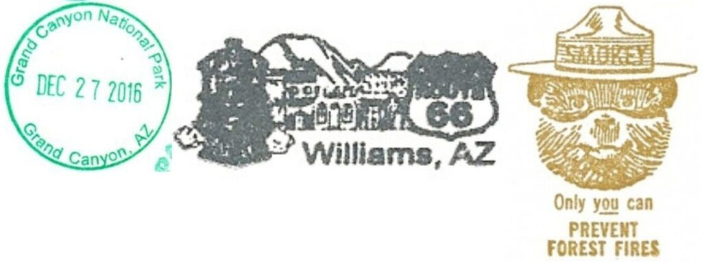 Grand Canyon National Park Passport Stamps - City of Williams Visitor Information Center