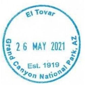 Grand Canyon National Park Passport Stamps - El Tovar Hotel Gift Shop