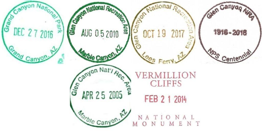 Grand Canyon National Park Passport Stamps - Glen Canyon
