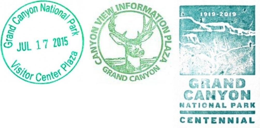 Grand Canyon National Park Passport Stamps - Grand Canyon Association Park Store