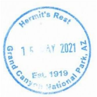 Grand Canyon National Park Passport Stamps - Hermits Rest Gift Shop