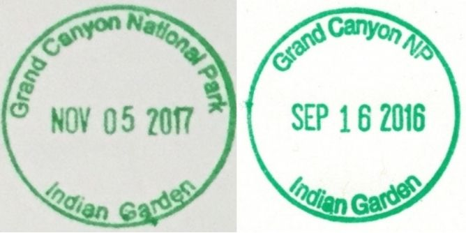 Grand Canyon National Park Passport Stamps - Indian Garden Visitor Information Station