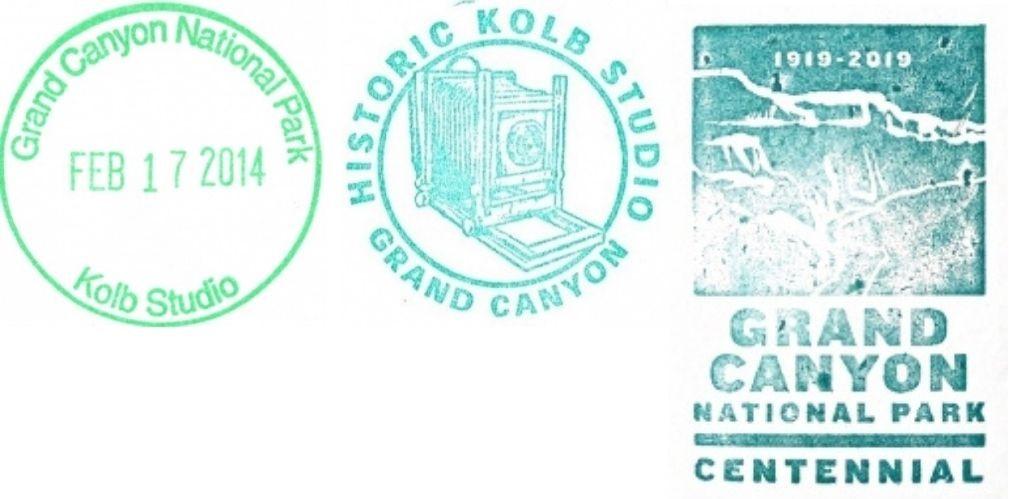Grand Canyon National Park Passport Stamps - Kolb Studio Bookstore
