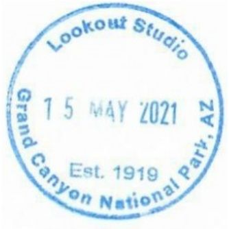 Grand Canyon National Park Passport Stamps - Lookout Studio Gift Shop