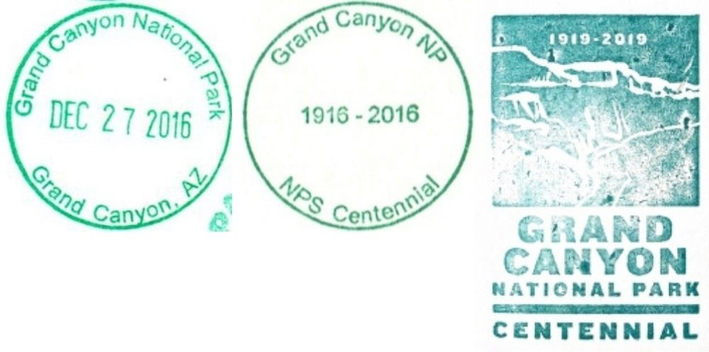 Grand Canyon National Park Passport Stamps - Park Headquarters