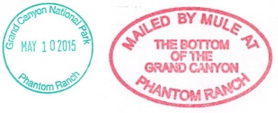 Grand Canyon National Park Passport Stamps - Phantom Ranch Gift Shop