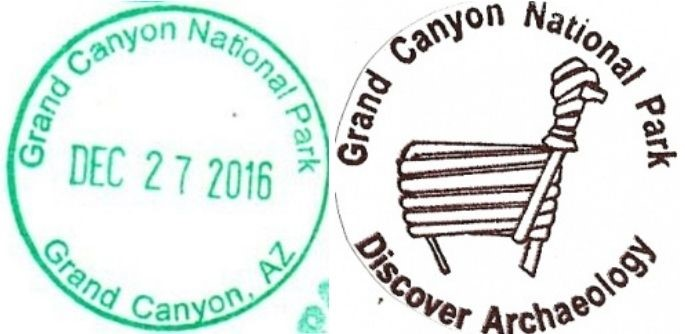 Grand Canyon National Park Passport Stamps - Roving Junior Ranger Table