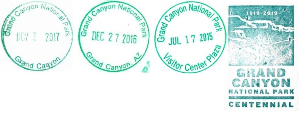 Grand Canyon National Park Passport Stamps - South Rim Visitor Center
