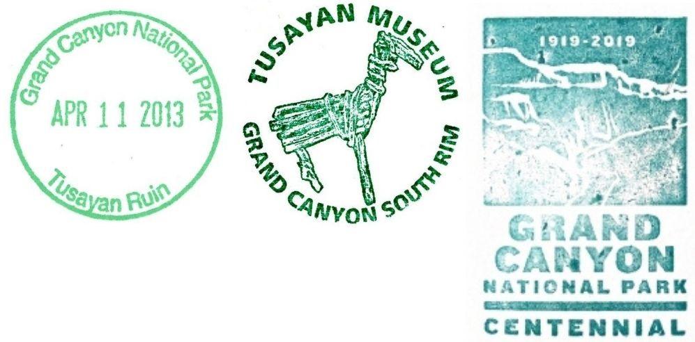 Grand Canyon National Park Passport Stamps - Tusayan Ruin Museum
