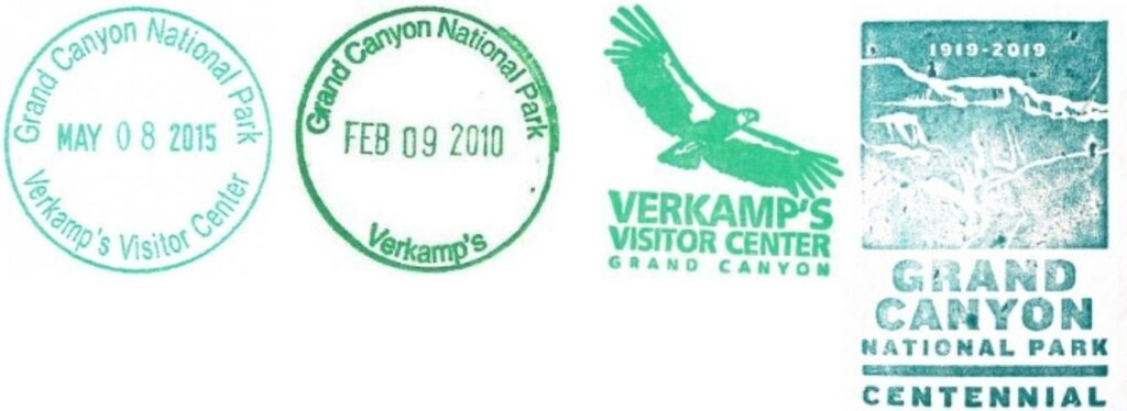 Grand Canyon National Park Passport Stamps - Verkamps Visitor Center