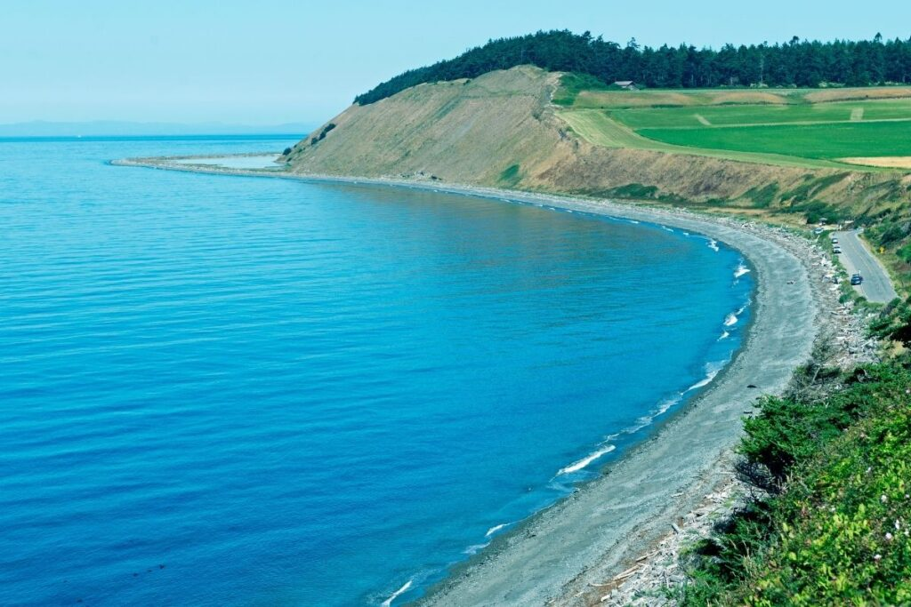 The coast line at Ebey's Landing