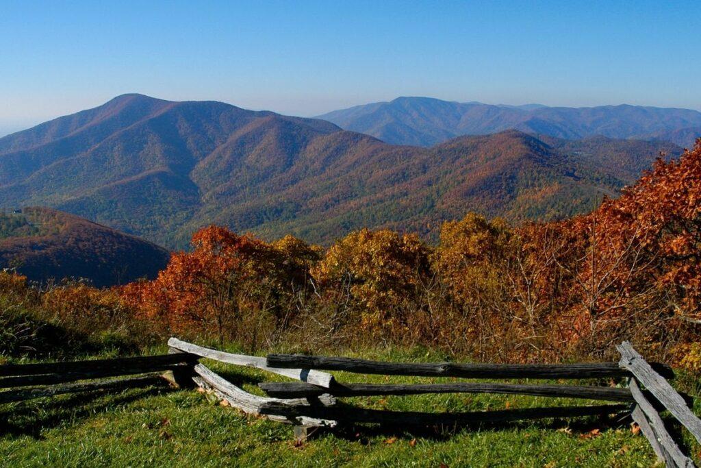 Rolling fall hills