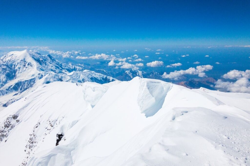 Looking down from the Summit of Denali