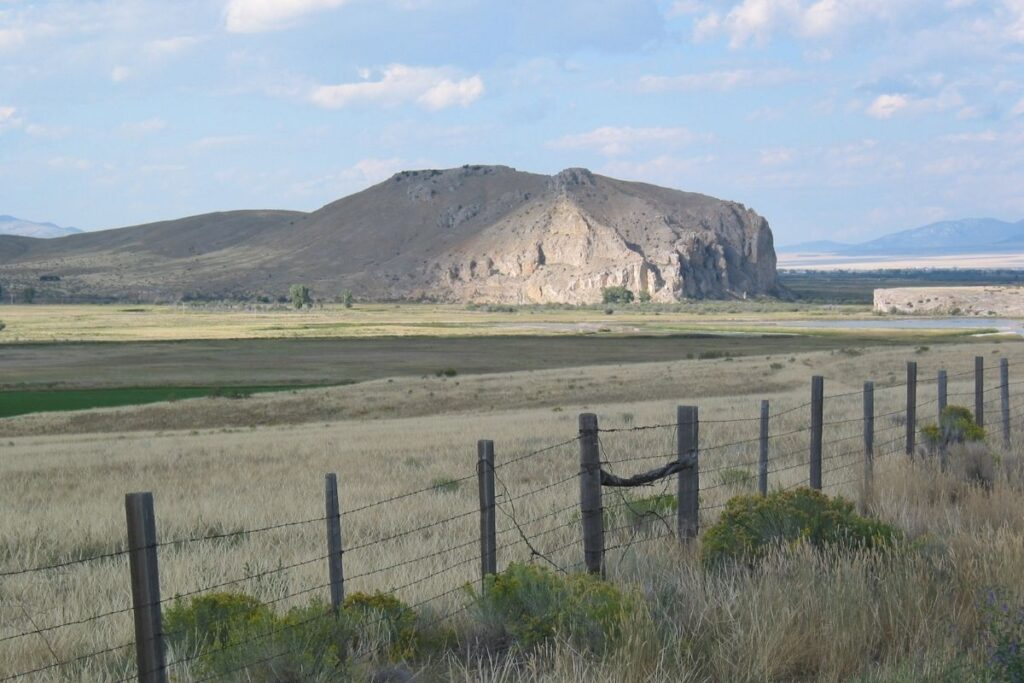 A large rock hill