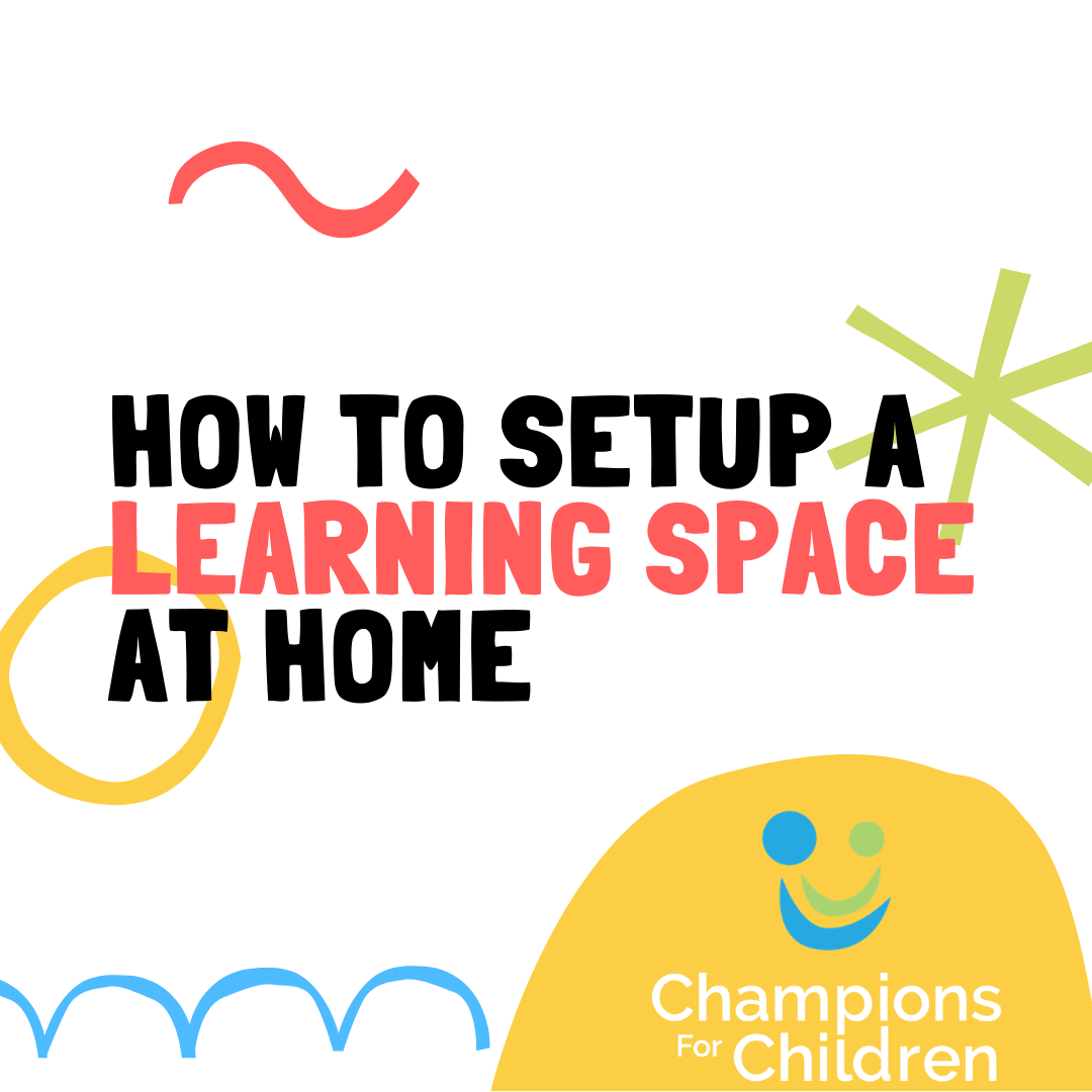 how to setup a learning space at home